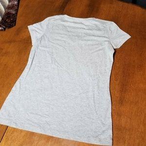 Nike Shirts - B38 NIKE The Athletic V-Neck T-Shirt Gray Men's L